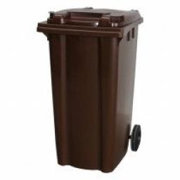 240 Litre Wheelie Bin | Brown