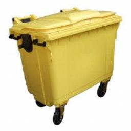 770 Litre Wheelie Bin | Yellow