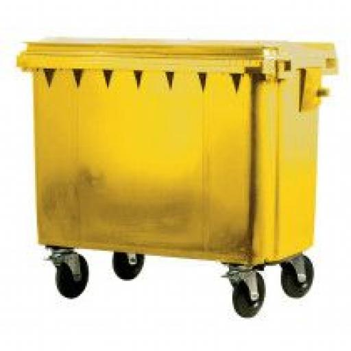 500 Litre Wheelie Bin | Yellow