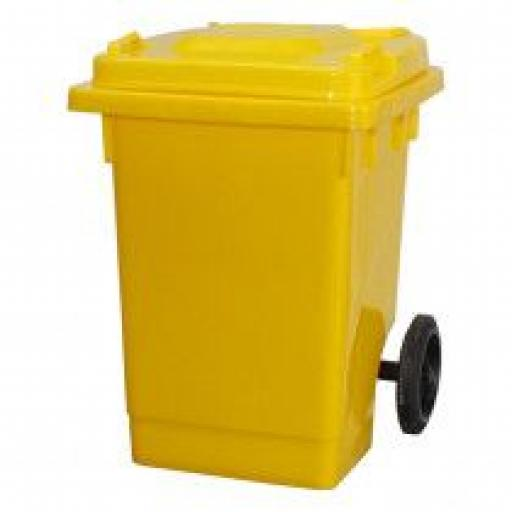 75 Litre Wheelie Bin | Yellow