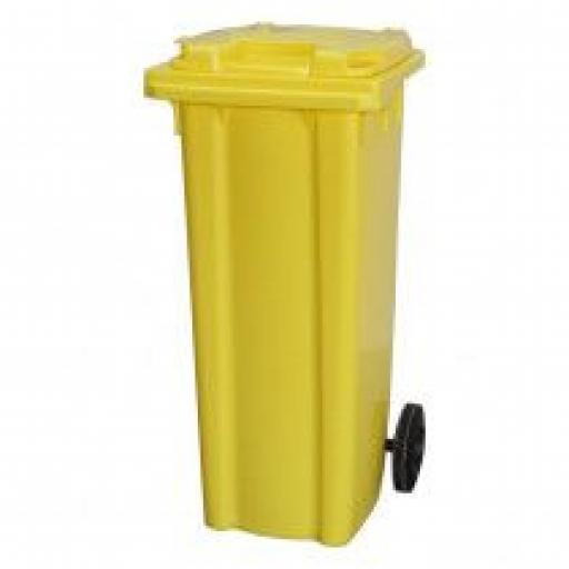 140 Litre Wheelie Bin | Yellow
