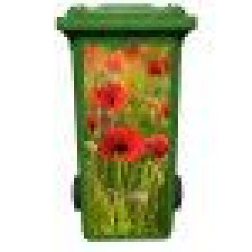 Poppy Field Wheelie Bin Art