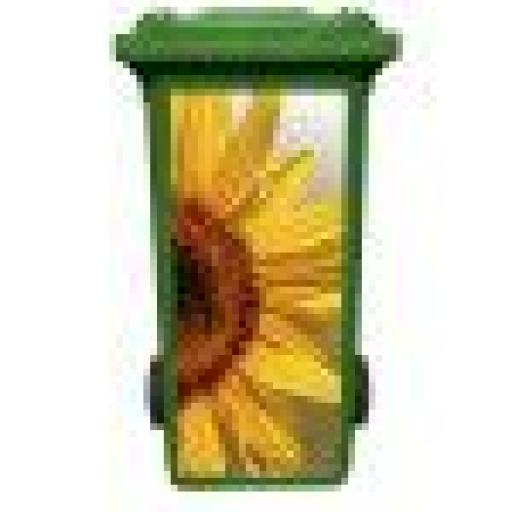 Sunflower wheelie Bin Art