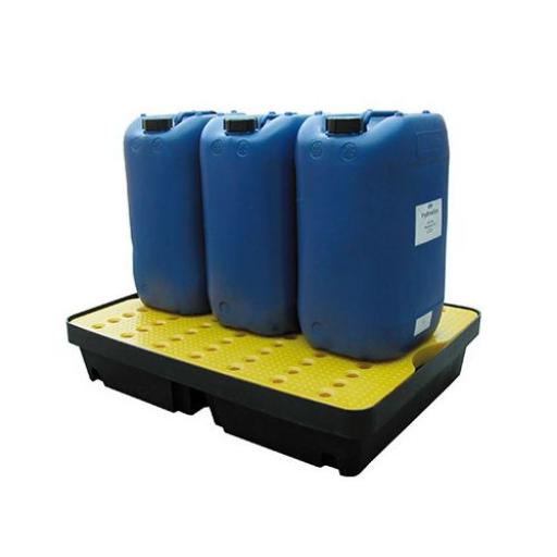 Poly Spill Tray With Platform Grid 40 Litre Capacity FL-205-512