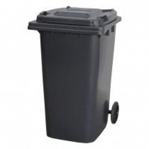 240 Litre Wheelie Bin | Dark Grey