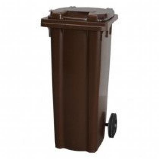 140 Litre Wheelie Bin | Brown