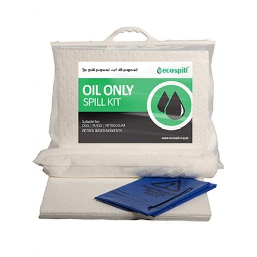 Ecospill 15 L itre Oil Only Spill Kit clip top plastic bag